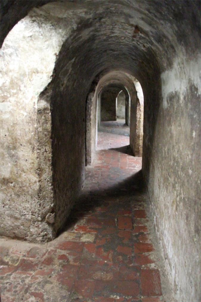 Underground tunnels, Castillo de San Felipe de Barajas, Cartagena, Colombia