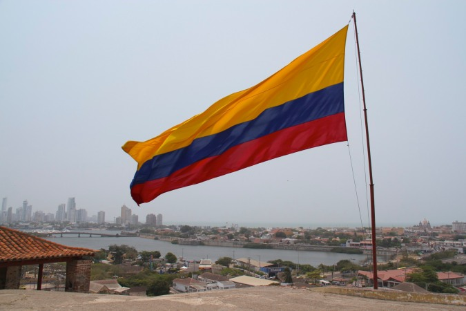 View over Cartagena from Castillo de San Felipe de Barajas, Colombia