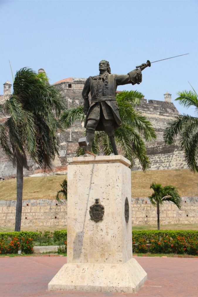 Statue of Blas de Lezo, Cartagena, Colombia