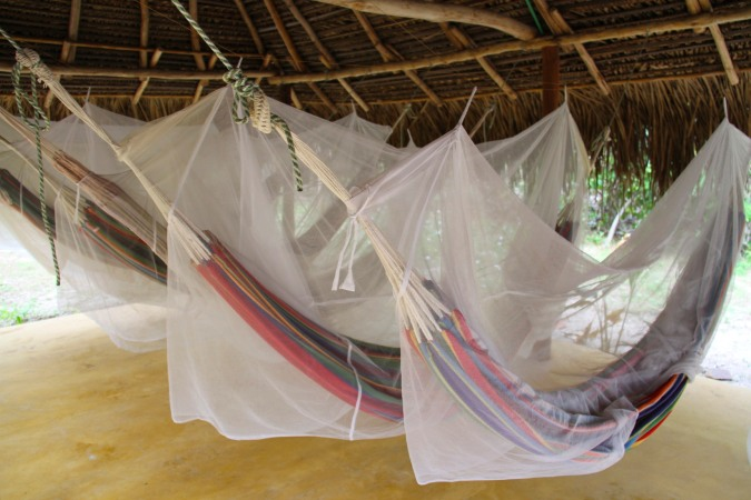 Home for the night, hammocks at Palomino beach, Caribbean, Colombia