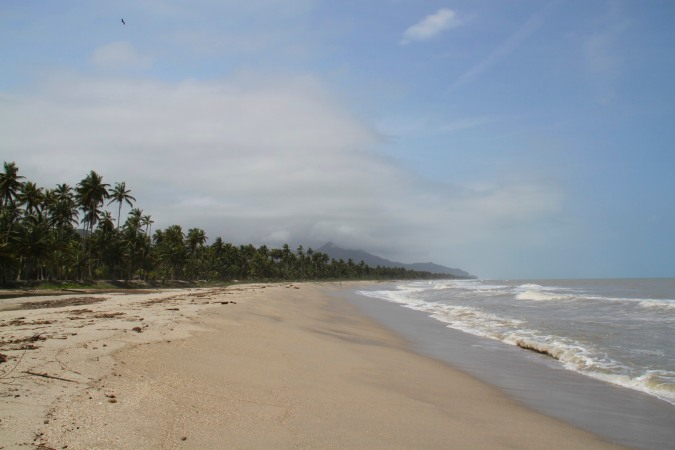 The beach at Palomino, Caribbean, Colombia