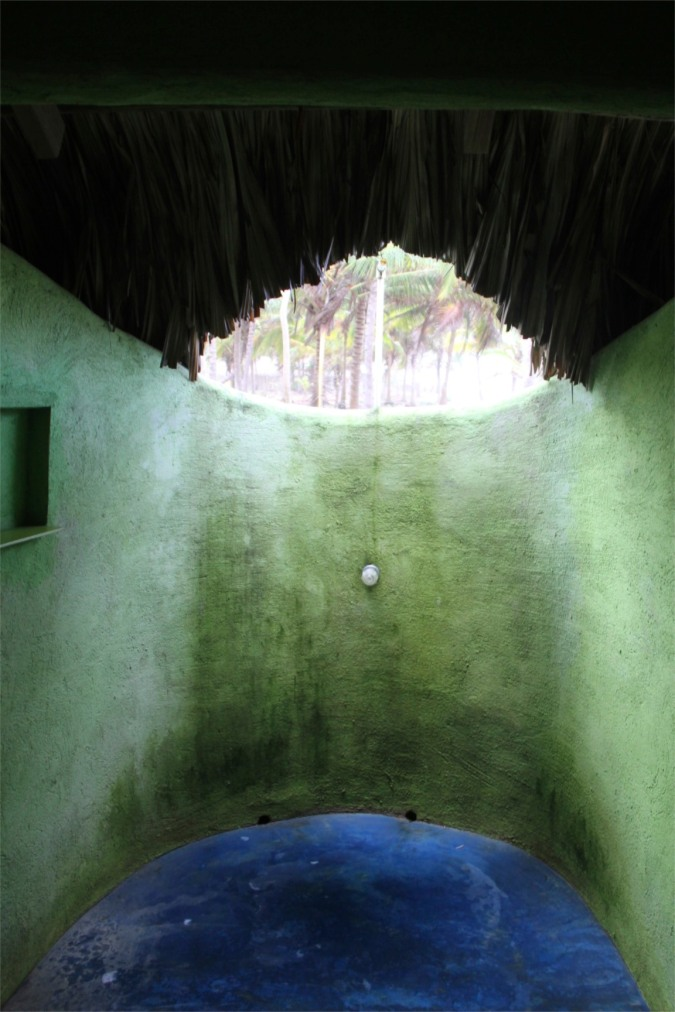 Open air shower in our cabana, Palomino, Caribbean, Colombia