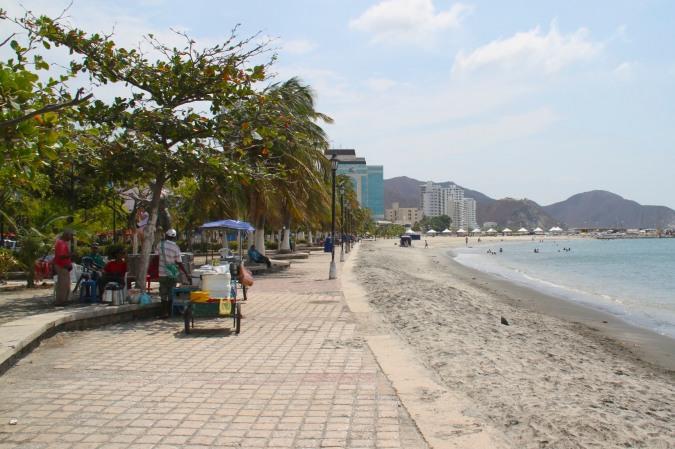 Caribbean seafront at Santa Marta, Colombia