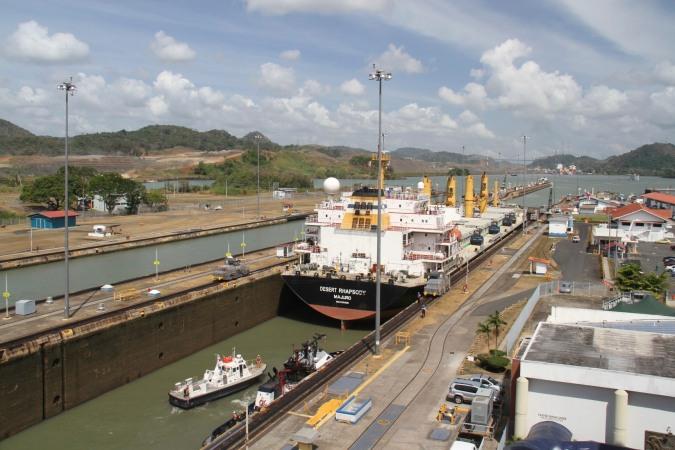 Miraflores Locks. Panama Canal, Panama