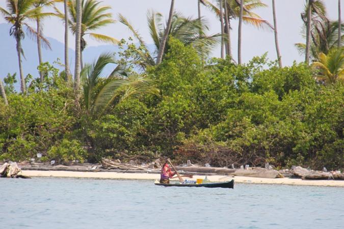 Kuna canoe, San Blas Islands, Panama