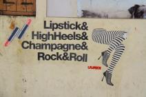 Leggy street art in Casco Viejo, Panama City, Panama