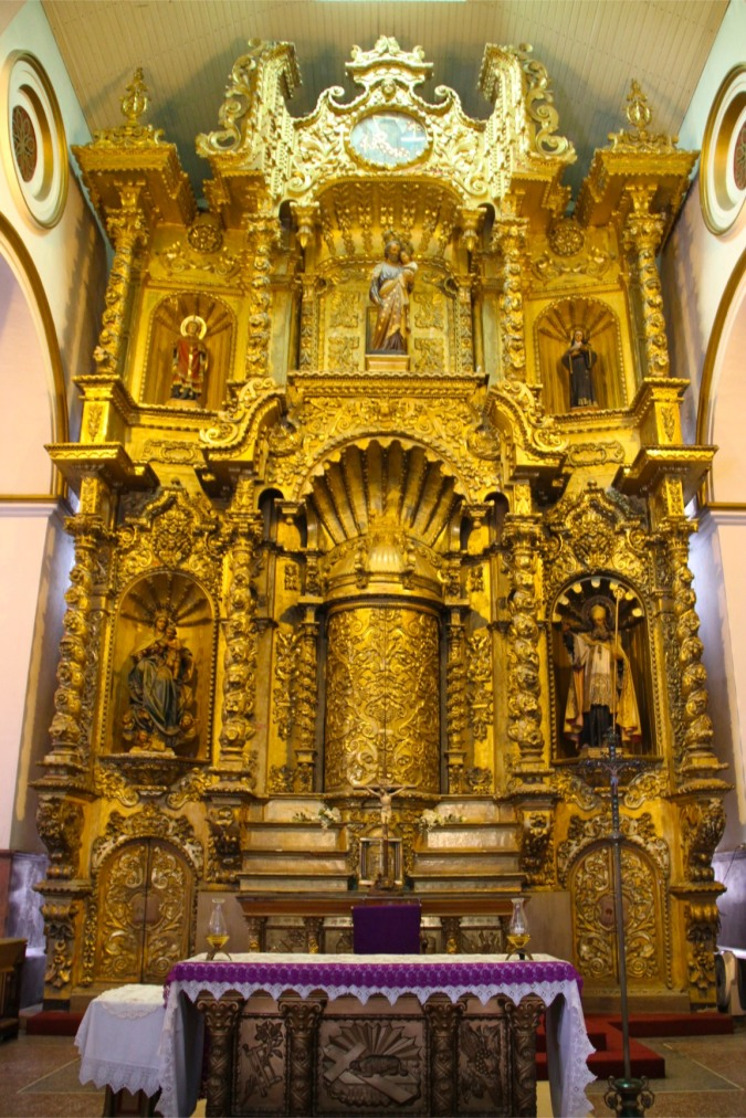 Interior of Iglesia de San Jose, Casco Viejo, Panama City, Panama