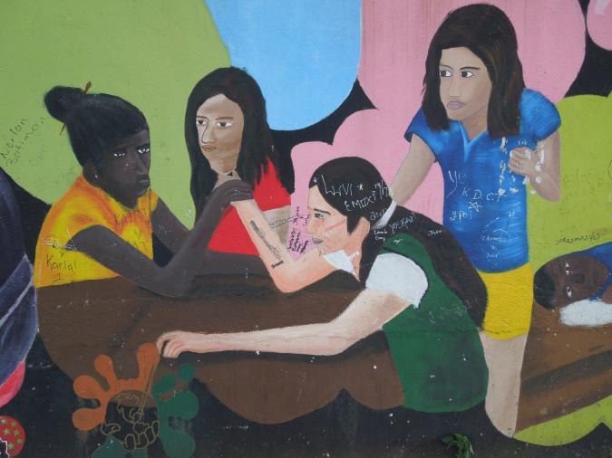 Girl Power street art, Bluefields, Nicaragua