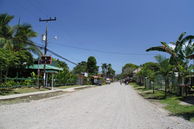 Main street in Cahuita, Costa Rica