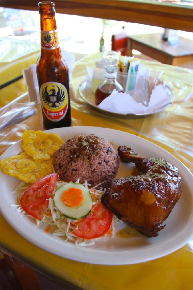 Caribbean food, Cahuita, Costa Rica