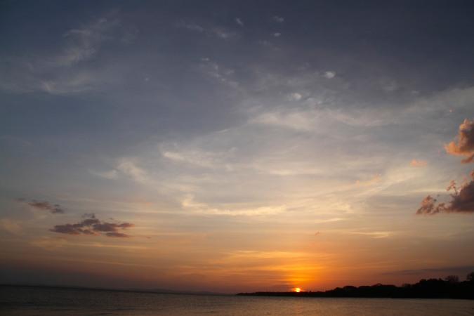 Sunset from Charco Verde, Isla de Ometepe, Nicaragua