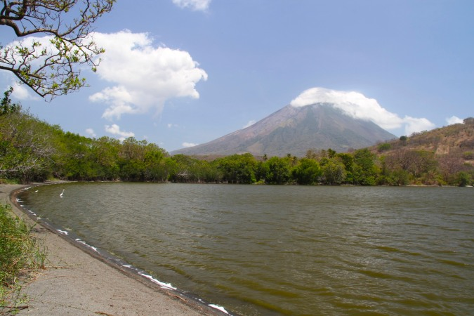 Laguna and Volcan Concepcion, Isla de Ometepe, Nicaragua