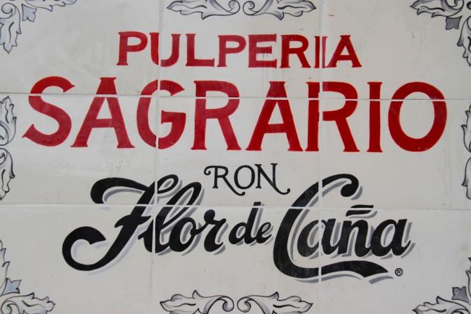 Rum advertisement, Granada, Nicaragua