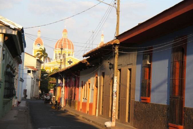 Street in the colonial centre of Granada, Nicaragua