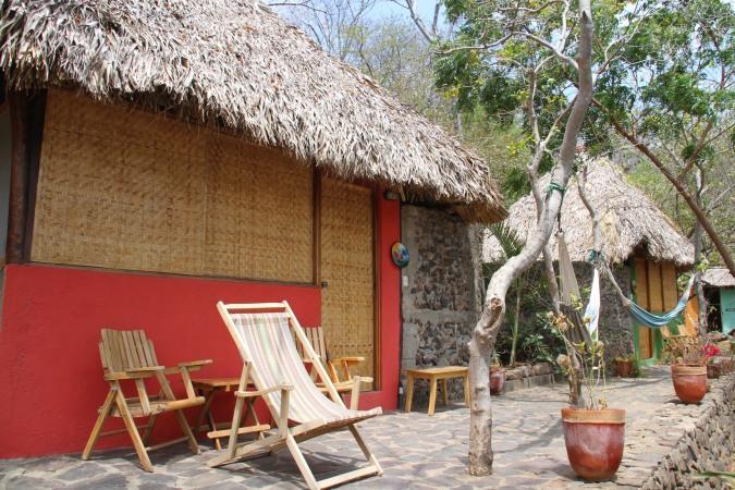 Cabana and hammocks, Laguna Apoyo, Nicaragua