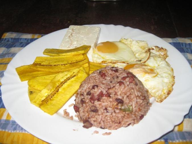 Typical Nicaraguan Breakfast