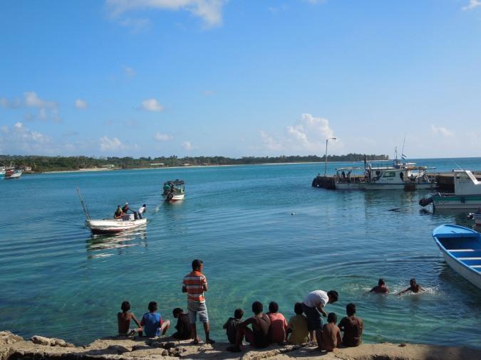 The port area of Big Corn Island, Nicaragua