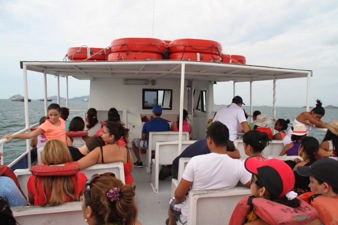 Boat to Isla Taboga, Panama