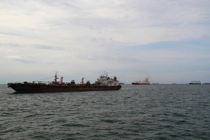 Ships waiting to enter the Panama Canal, Panama