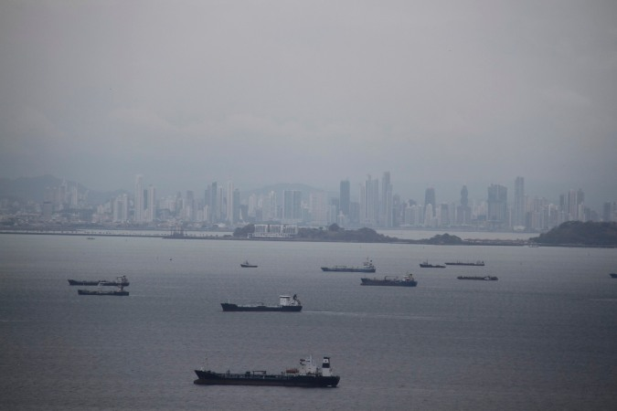 Panama City from Isla Taboga, Panama