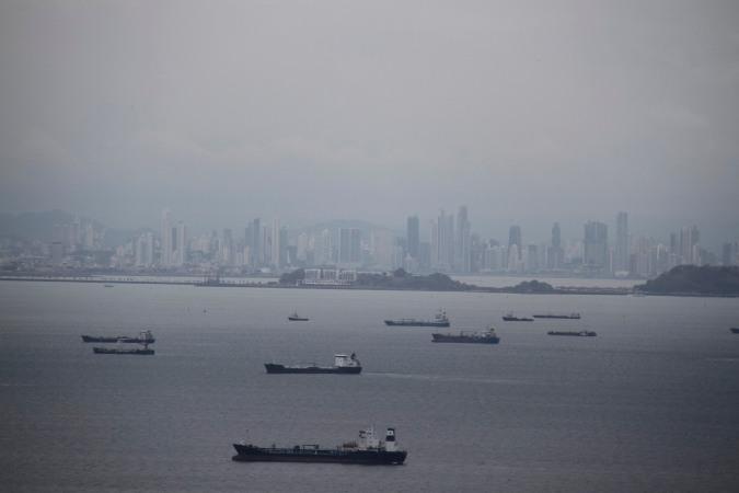 Panama City from Isla Taboga, Panama