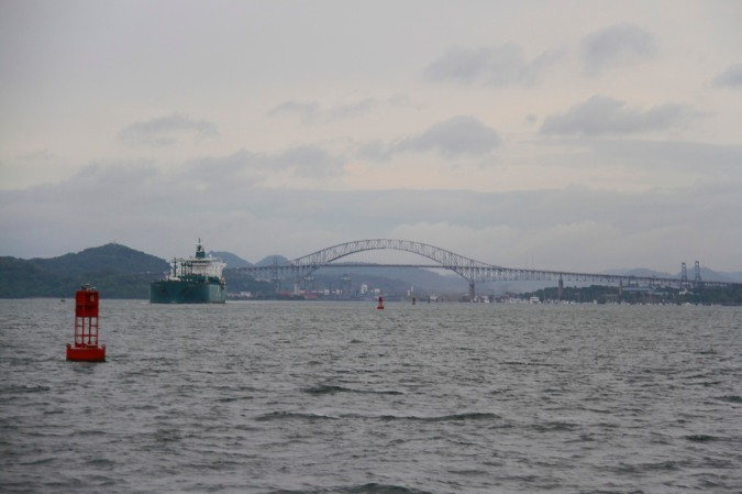 Bridge of the Americas from the ocean en route to Isla Taboga, Panama