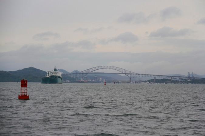Bridge of the Americas from the ocean en route to Isla Taboga, Panama