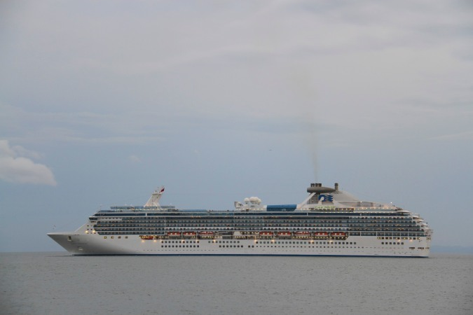 Large cruise ship, Panama Canal, Panama