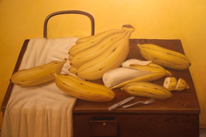 Giant bananas, Botero Museum, Bogota, Colombia