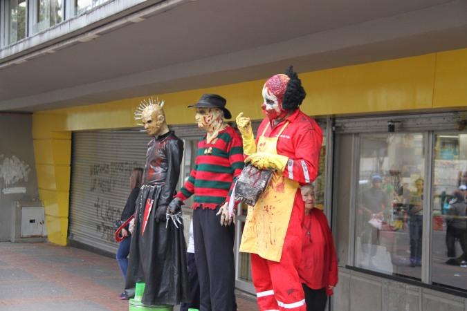 Street performers, Bogota, Colombia
