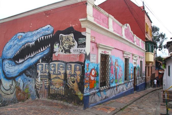 Street art in the Candelaria district, Bogota, Colombia