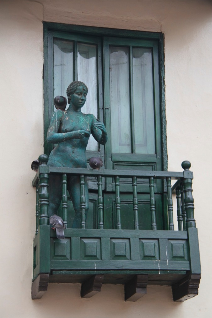 Sculpture in the Candelaria district, Bogota, Colombia