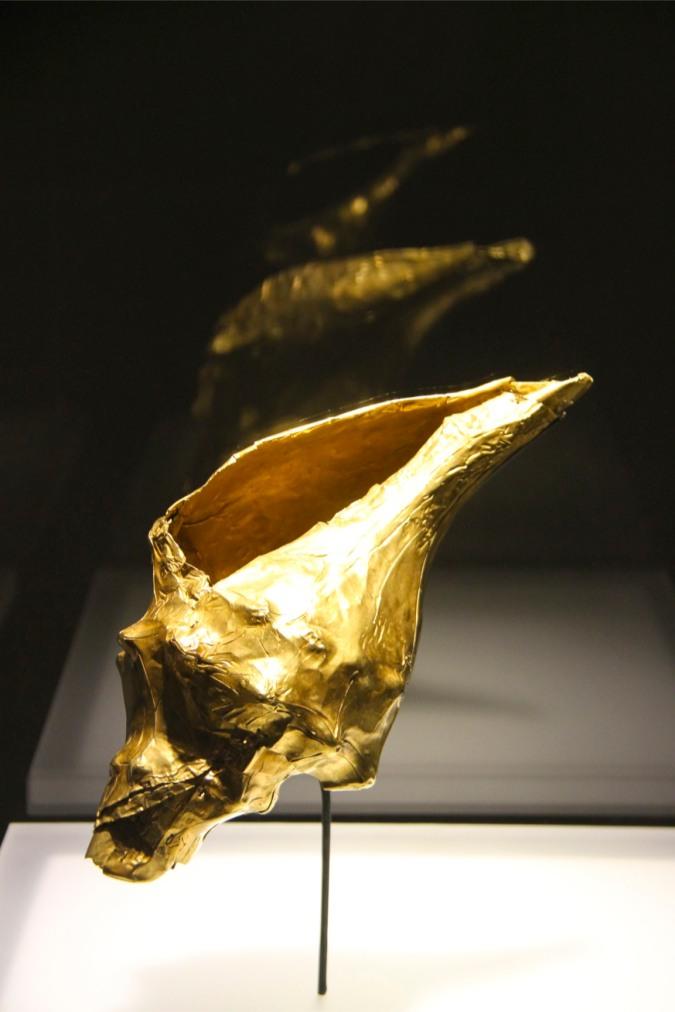 A golden conch shell, Museo del Oro, Bogota, Colombia