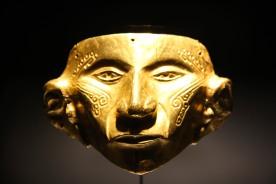Golden mask, Museo del Oro, Bogota, Colombia
