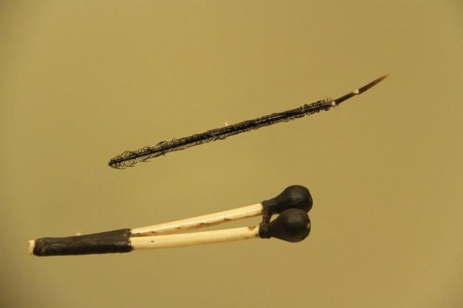 Instruments for taking hallucinogenic powder, Museo del Oro, Bogota, Colombia