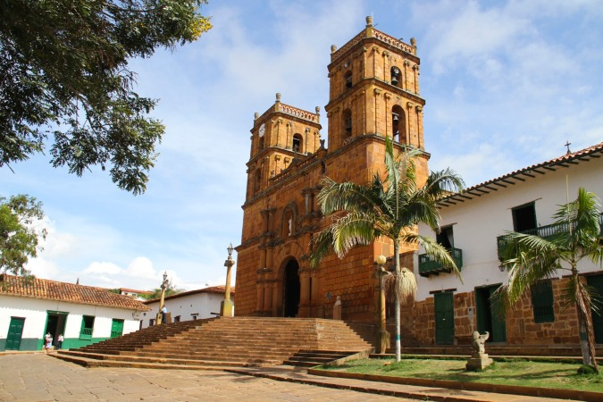 The cathedral in Barichara, Colombia