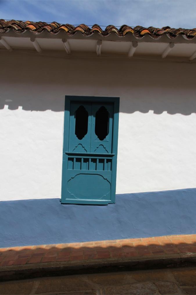 Window in Barichara, Colombia
