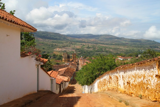View over Barichara, Colombia