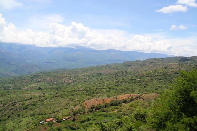 Valley or the Rio Suarez, Barichara, Colombia
