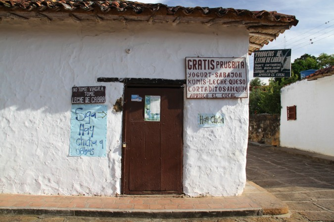 Extolling the virtues of goats milk, Guane, Colombia
