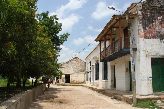 Street in Mompox, Colombia