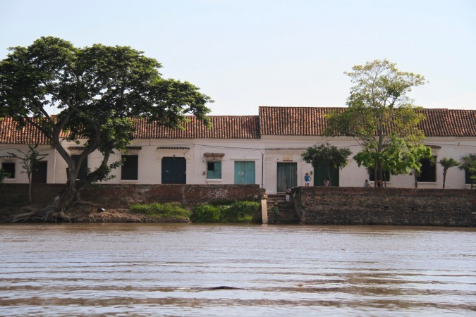 Mompox from the Rio Magdalena, Colombia