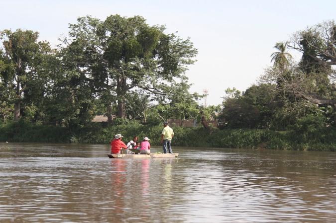 Canoe on the Rio Magdalena, Colombia