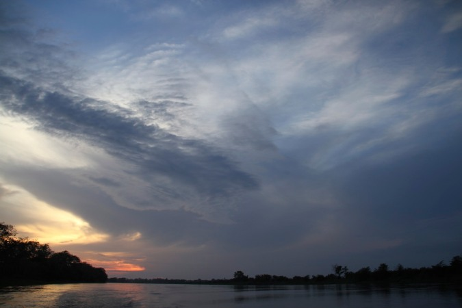 Sunset over the Rio Magdalena, Colombia