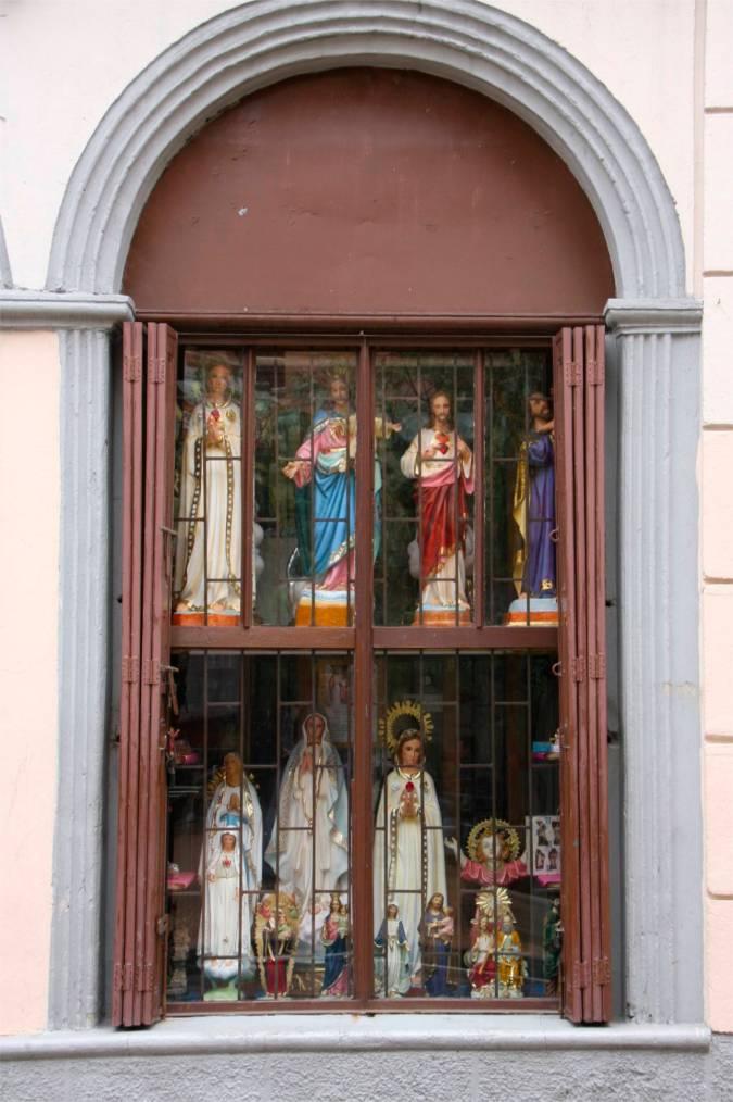Religious window, Bogota, Colombia