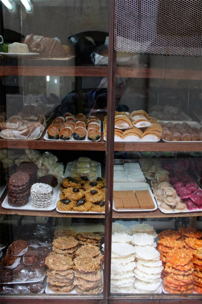 Cake shop in the Candelaria district, Bogota, Colombia