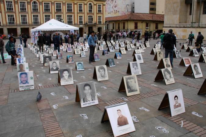 Protest in Plaza Bolivar, Bogota, Colombia