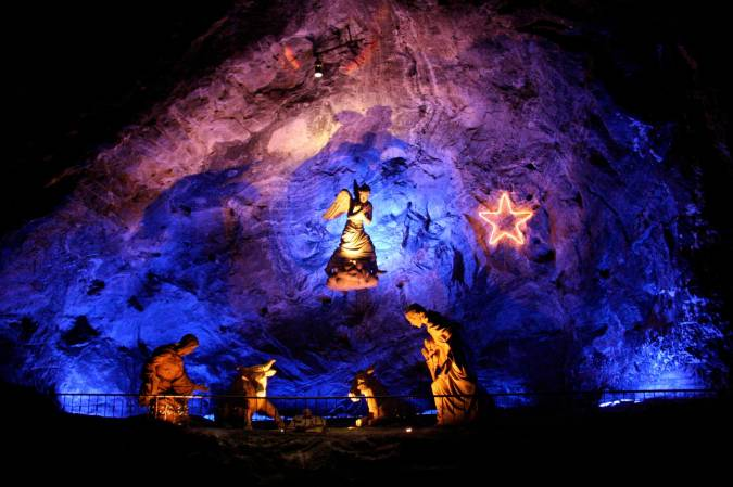Nativity scene, Cathedral del Sal, Zipaquira, Colombia