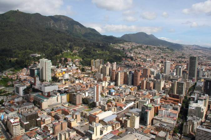 View over Bogota from Mirador Torre Colpatria, Bogota, Colombia