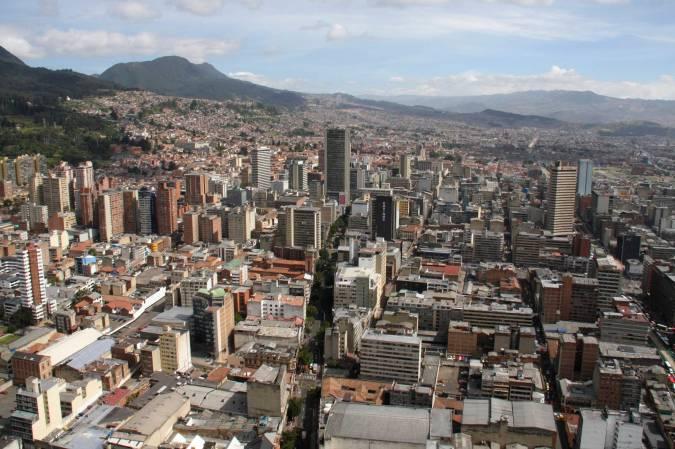 View over Bogota from Mirador Torre Colpatria, Bogota, Colombia